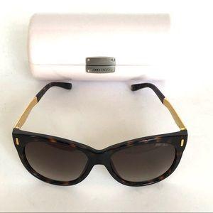 NWT Jimmy Choo Tortious Sunglasses w/ case and Bag